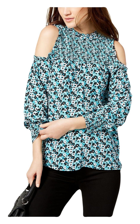de1375a26b5f01 Michael Kors Michael Women s Smocked Cold-Shoulder Top