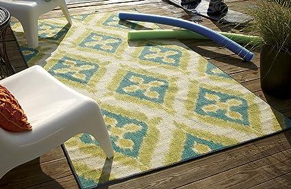 Amazon Com Mohawk Home Summer Splash Ikat Indoor Outdoor Patio