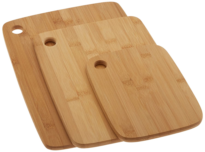 Cook Pro Inc. 3 PC Bamboo Cutting Board Set, Bamboo