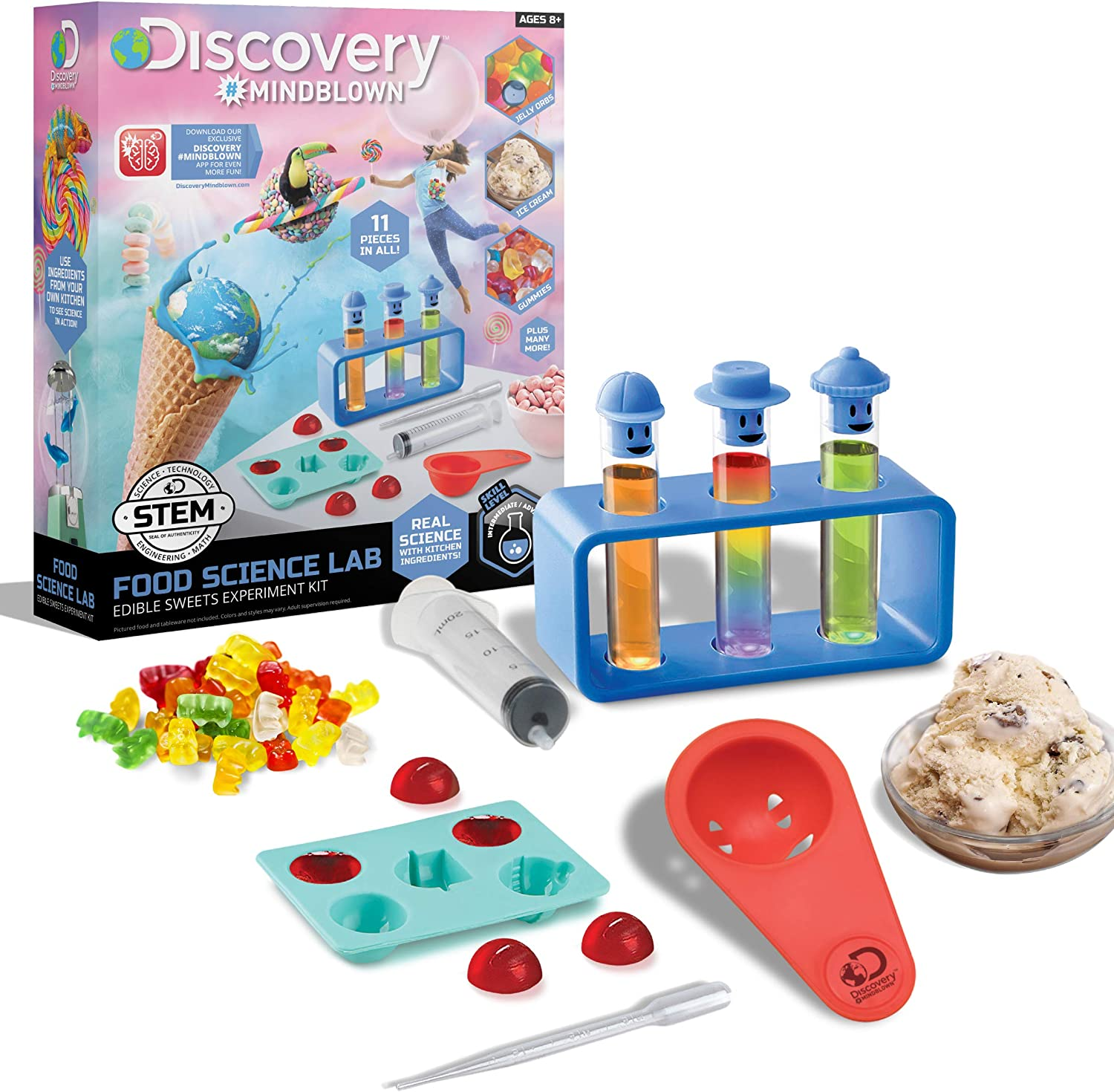 Discovery Kids Toy Experiment Kit Food Science Lab Sweets Set 11pc