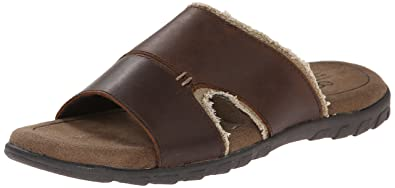 Crevo Men's Venti Dress Sandal, Brown, 11 M US