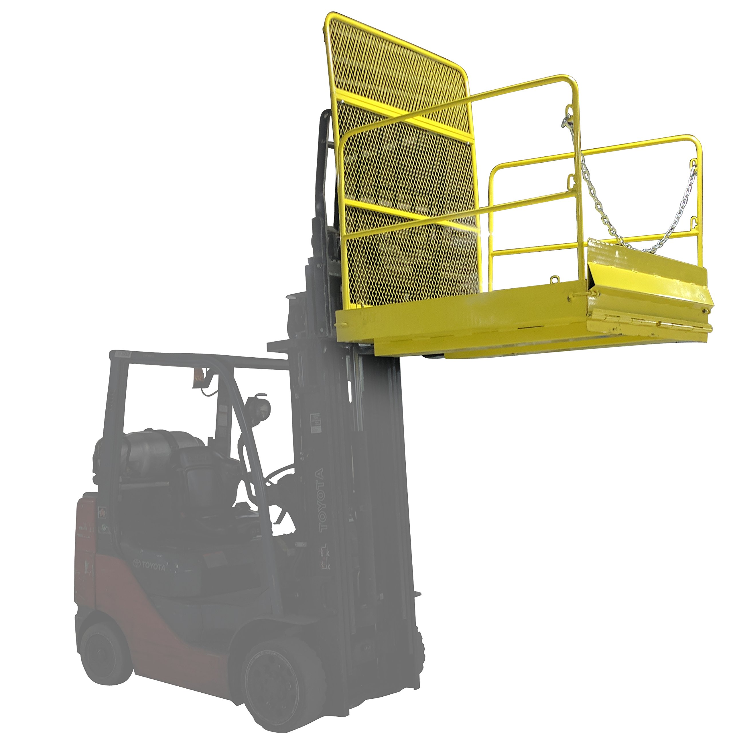54'' x 54'' Loading Work Platform w/ Handrails - 2,000 LB Capacity by Titan Attachments (Image #5)