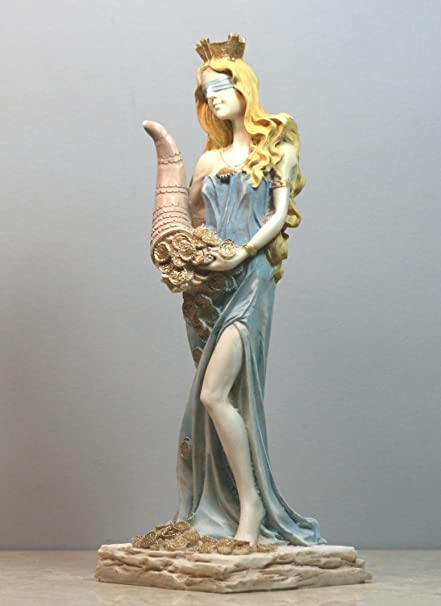 Amazon Goddess Of Wealth Tyche Lady Luck Fortuna Statue