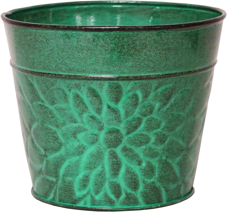 Robert Allen MPT02010 Laurel Series Metal Planter Flower Pots, 8