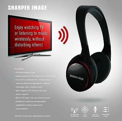 Amazon.com: SHP925 100 Pies Auriculares inalámbricos para cualquier TV, sistemas de juego, cine en casa y equipos de Negro: Health & Personal Care