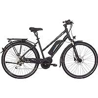 "Fischer - E-Bike Trekking 1861.1 (Modelljahr 2019), Schwarz matt, 28"", Shimano Deore XT 1x9-Gang Kette, LCD 1300 mit USB, Bluetooth, App, Suntour NCX 63 mm"
