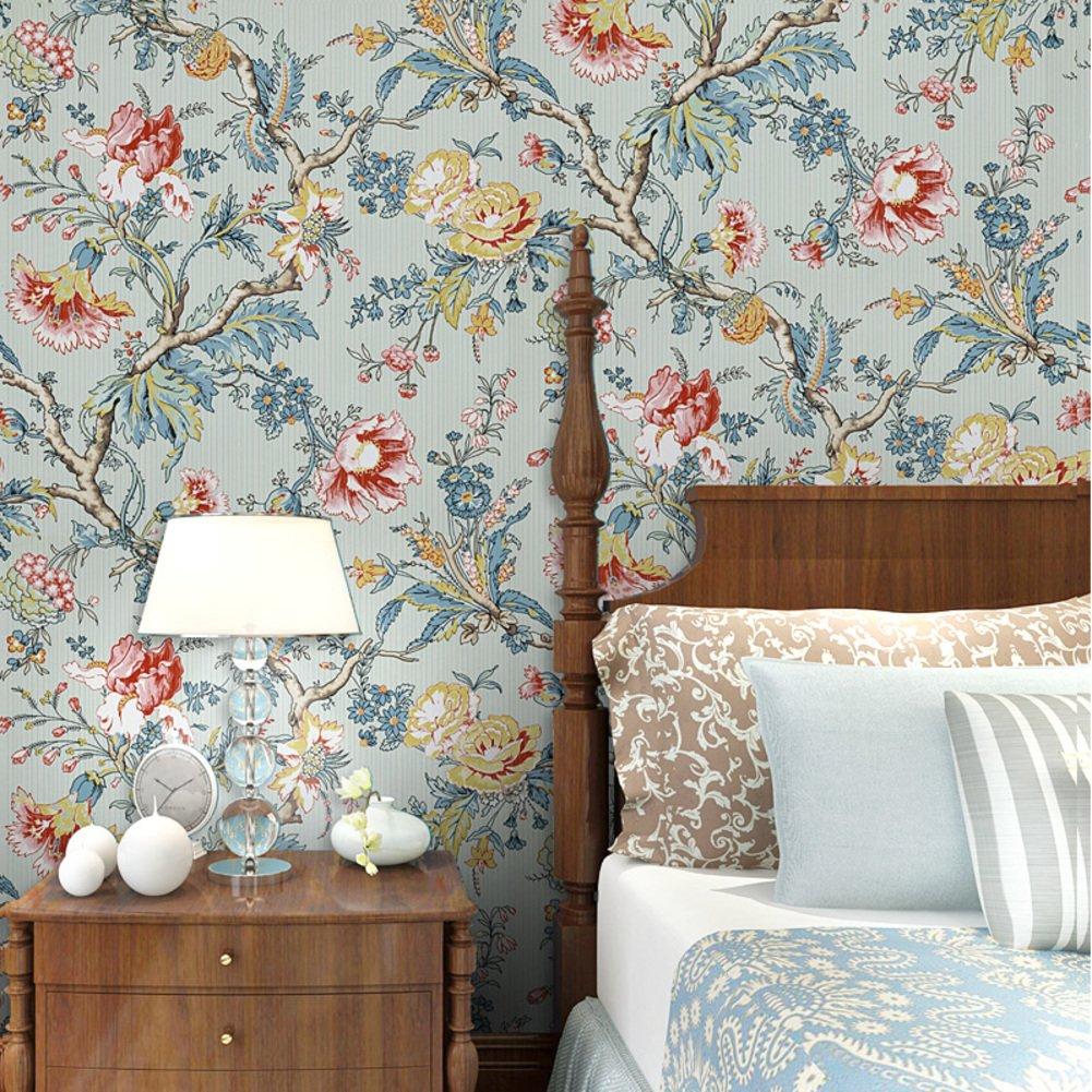 American style Dorf Vlies tapete,Schlafzimmer LÄndlichen Wohnzimmer ...