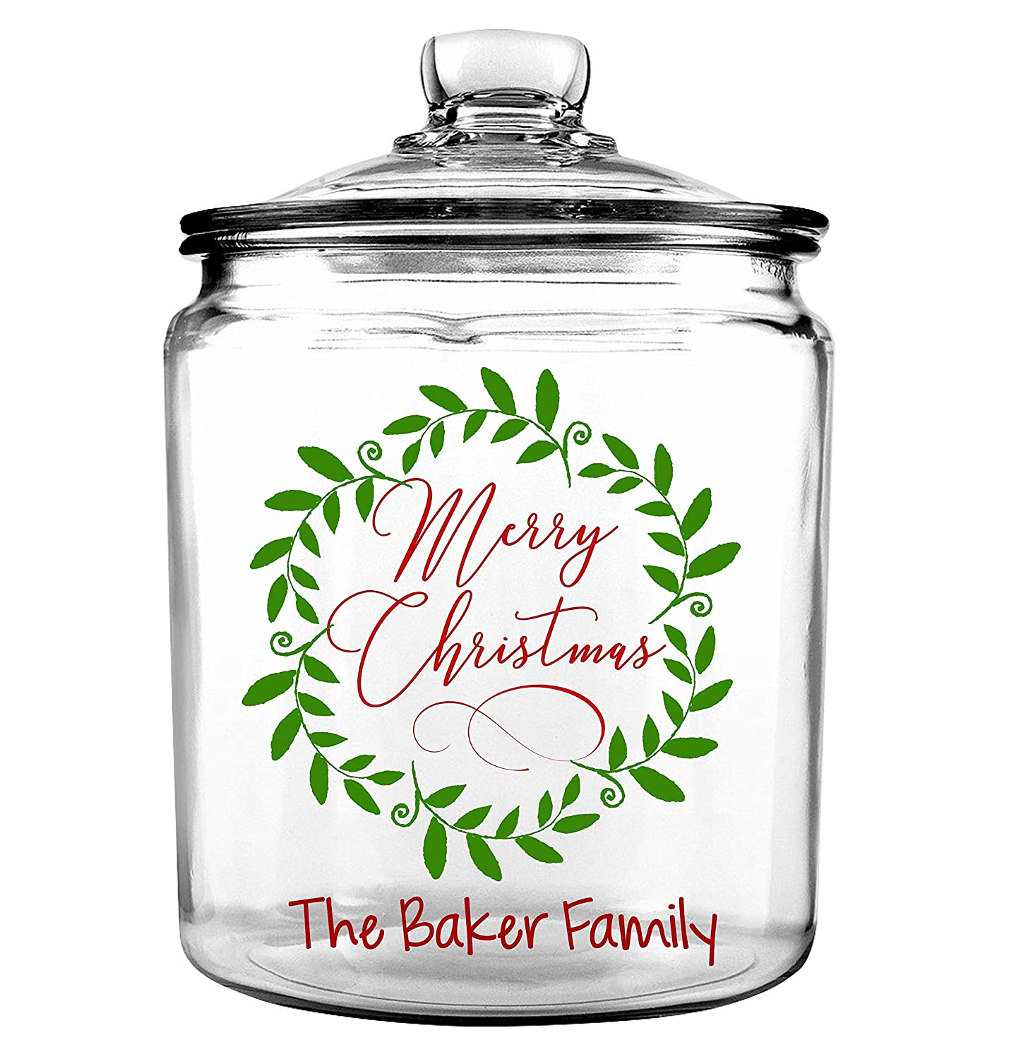 Christmas Cookie Tin Merry Christmas Cookie Jar Personalized Holiday Cookie Jar Gift Box Cookie Jar Christmas Cookies For Santa -Christmas Cookie Jar
