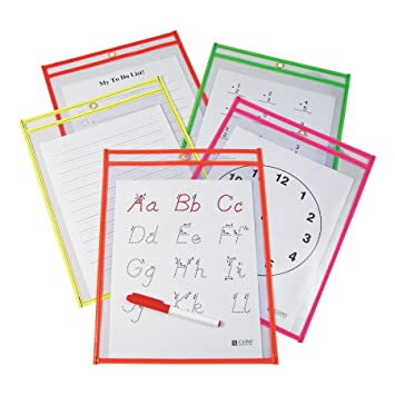 Counting Number worksheets geometry worksheets year 9 : Amazon.com : C-Line Reusable Dry Erase Pockets, 9 x 12 Inches ...