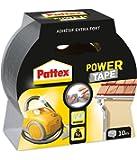 Pattex Ruban adhésif Power Tape - Fixation ultra forte et résistante sur tous types de matériaux - Gris - 1 x 10 m