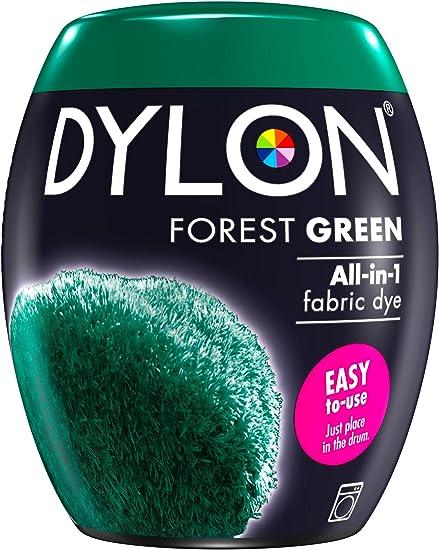 Dylon Tinte para máquina (350 g), Verde (Forest Green), 8.5 x 8.5 x 9.9 cm