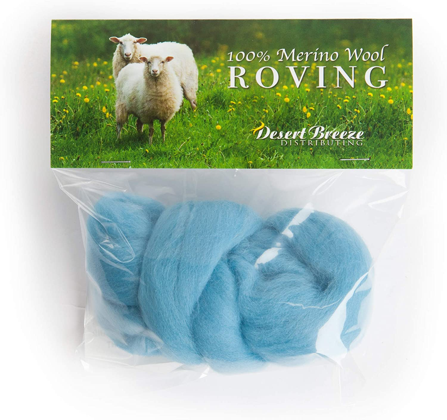 21 Micron Premium Combed Top Made in The UK Perfect for Felting Projects 100/% Pure Wool Color Seafoam Green Merino Wool Roving
