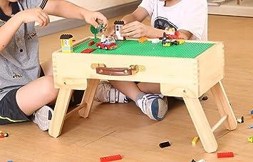 Stockage Lego Fabriqué Bois De Pliable Table Mesure Jeu Sur En DE9IHYW2