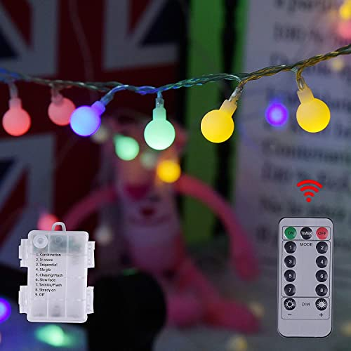 Chuya 100 LED USB Rope Christmas String Lights 33ft 16 Colors Changing Twinkle Tube Fairy String Lights for Home Bedroom Hanging Christmas Party Wedding Decor