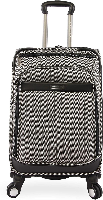 Perry Ellis Lexington II Lightweight Carry-on Spinner Luggage, Herringbone, One Size