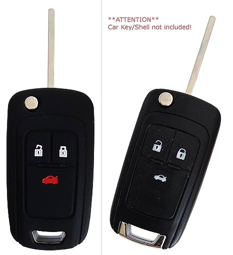 carkeyplus CK + Opel Auto de Llave móvil Key Cover Case Funda Silicona para Adam Cascada Moca X Astra Corsa Insignia Meriva Zafira 3-Button-Keybit ...