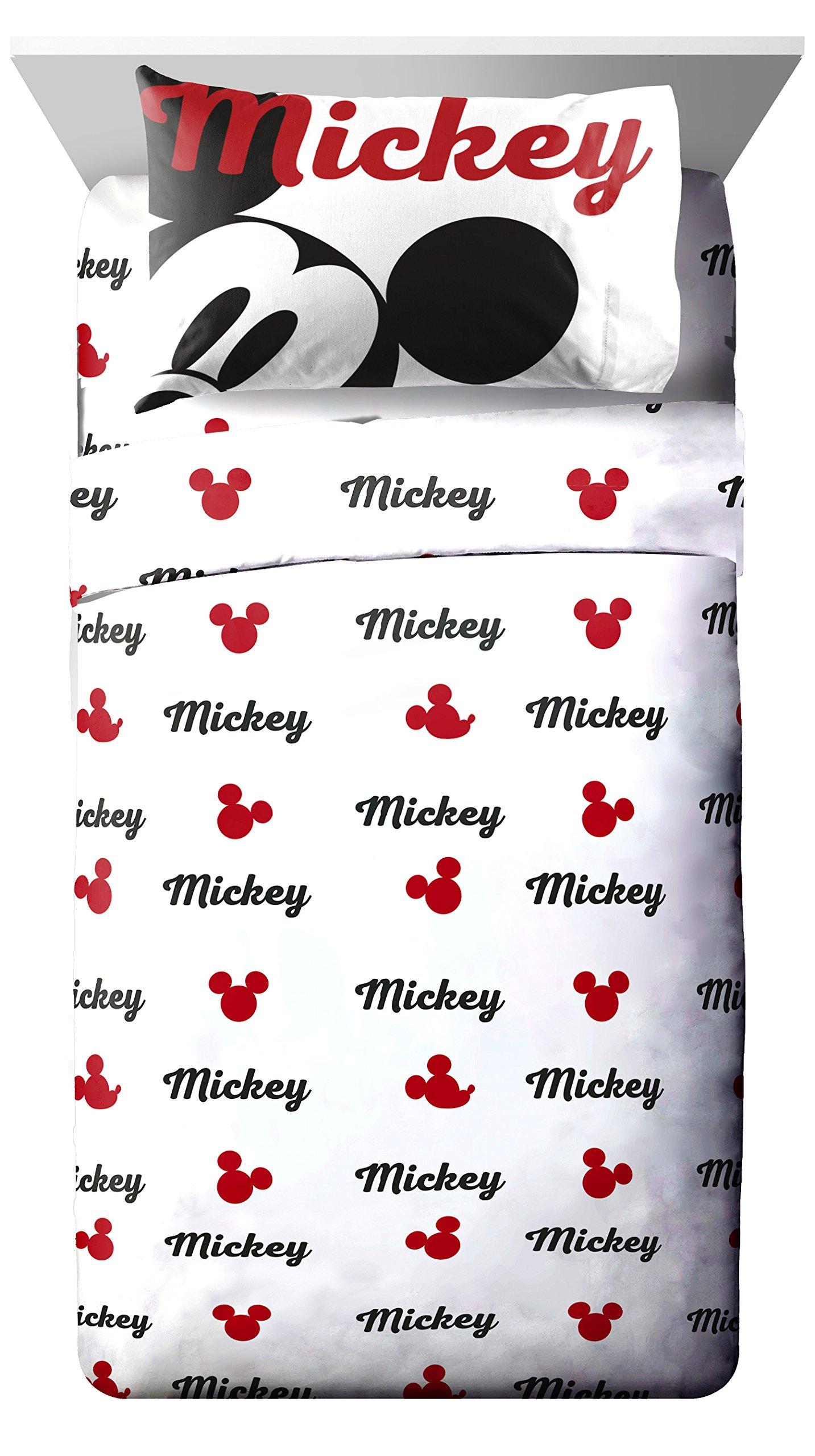 Disney Mickey Mouse Retro Reloaded 4 Piece Full Sheet Set, Retro Full Sheet Set, 4