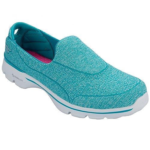 Skechers Go Walk 3 niche, Damen Sneakers , Türkis aqua
