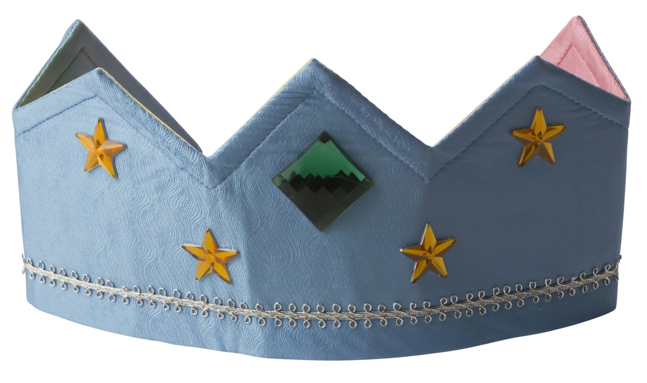 Sarah's Silks - Reversible Silk Crown - Rainbow/Sky