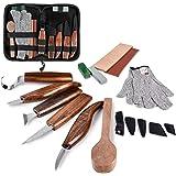 Wood Carving Tools Set, Hook Carving Knife, Detail Wood Knife, Whittling Knife, Oblique Knife, Trimming Knife for Spoon Bowl