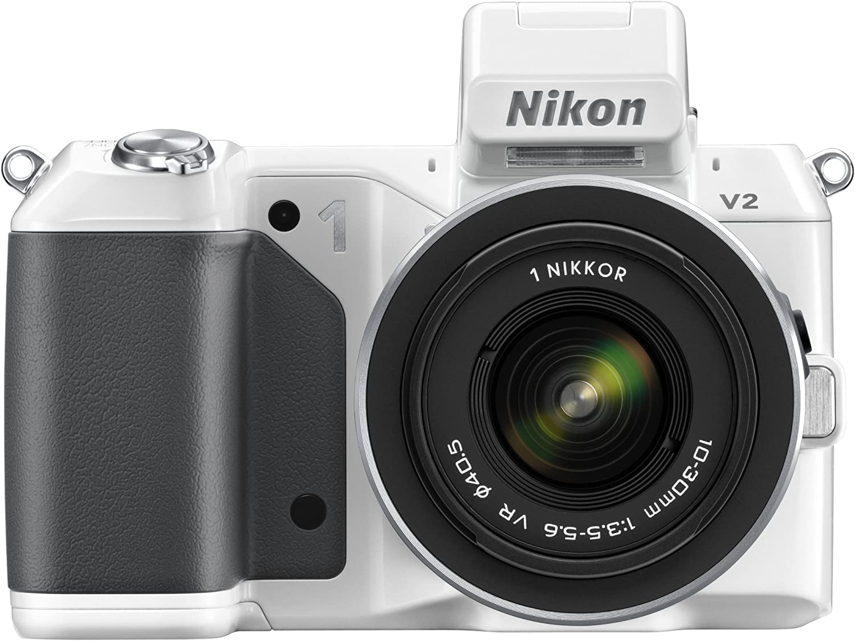 Nikon 1 V2 Systemkamera 3 Zoll Weiß Kit Inkl 10 30 Mm Kamera