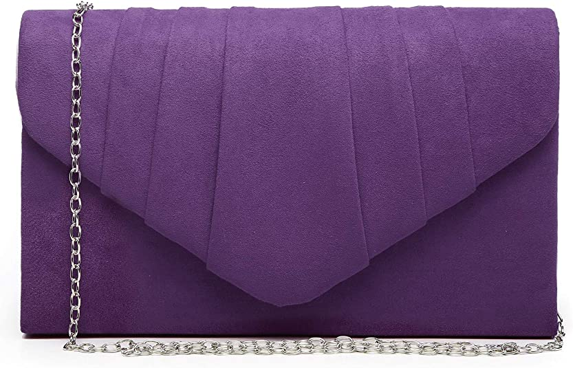 Dasein Womens Evening Bag Pleated Envelope Clutch Handbag