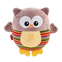 Fisher-Price Soothe and Glow Owl, New-born Soft Cuddly Toy with Soothing Music, Sounds and Lights, Teether and Plush, Suitable from Birth