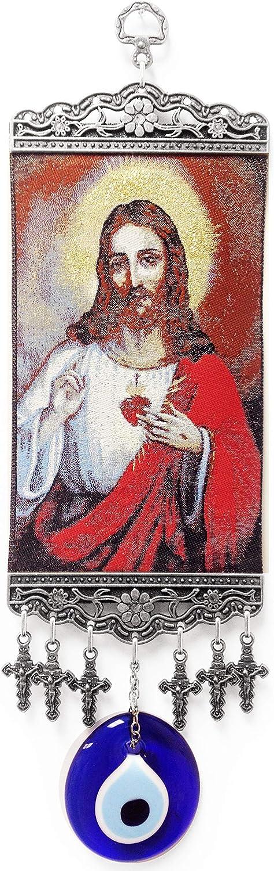 5322 LuckyEye Jesus Cross Wall Decor (Red)