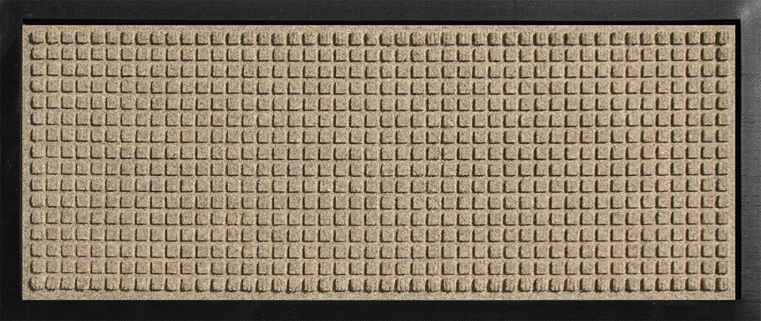 Hudson Exchange 4002 Waterhog Classic Boot Tray Mat, 34'' L x 15'' W, 3/8'' thick, Camel