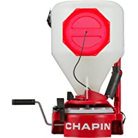 Chapin 8700A Chest Mount with Easy Fill Hopper Lawn Spreader, 35-Pounds, Translucent White Tank