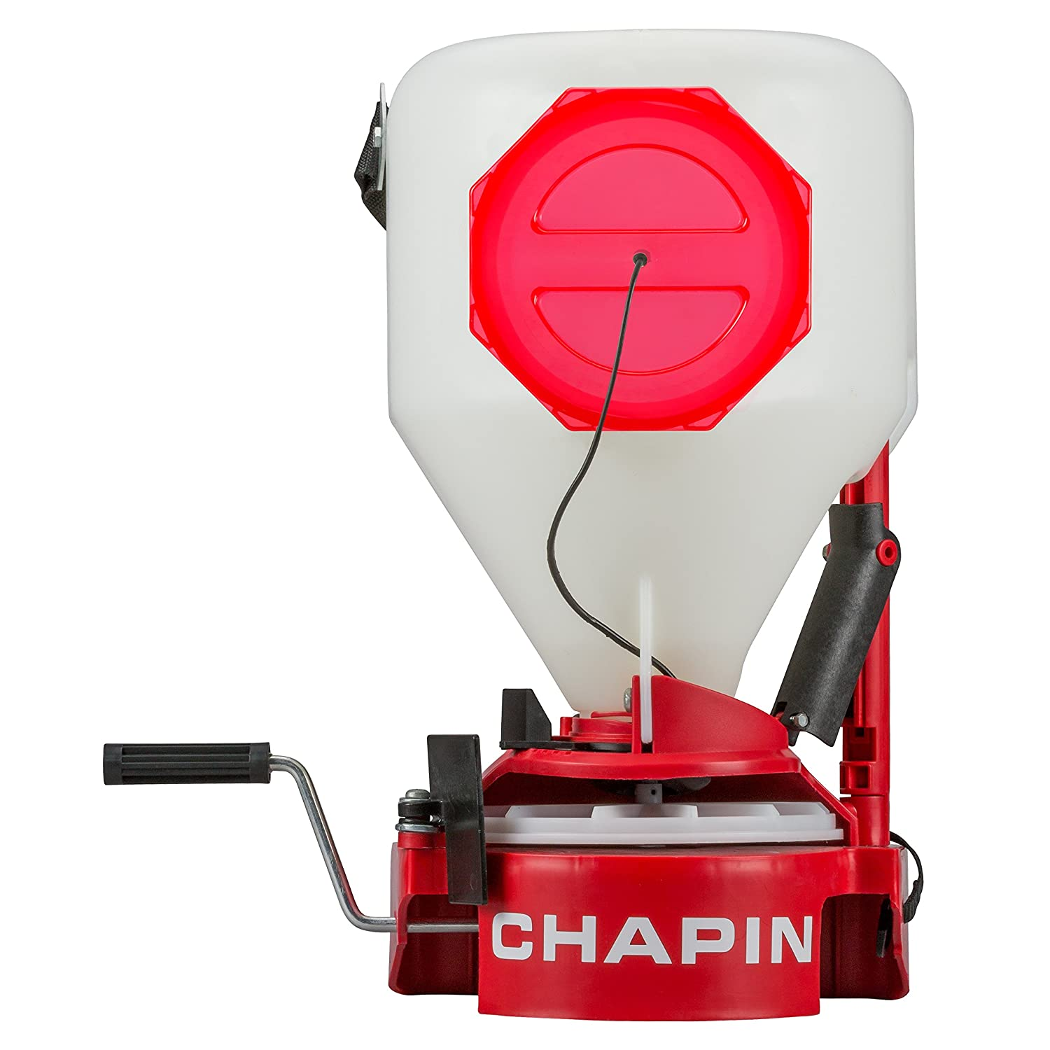 Chapin 8700A Chest Mount with Easy Fill Hopper Lawn Spreader, 35-Pounds, Translucent White Tank Chapin International Inc.