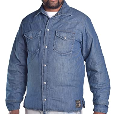 Ralph Lauren Denim \u0026 Supply Mens Polo Down Puffer Denim Jean Jacket Coat  Large