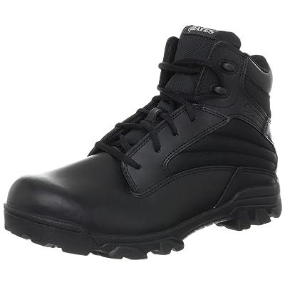 Bates Men's ZR-6 BLK 6 Inch Leather Nylon Uniform Boot: Shoes