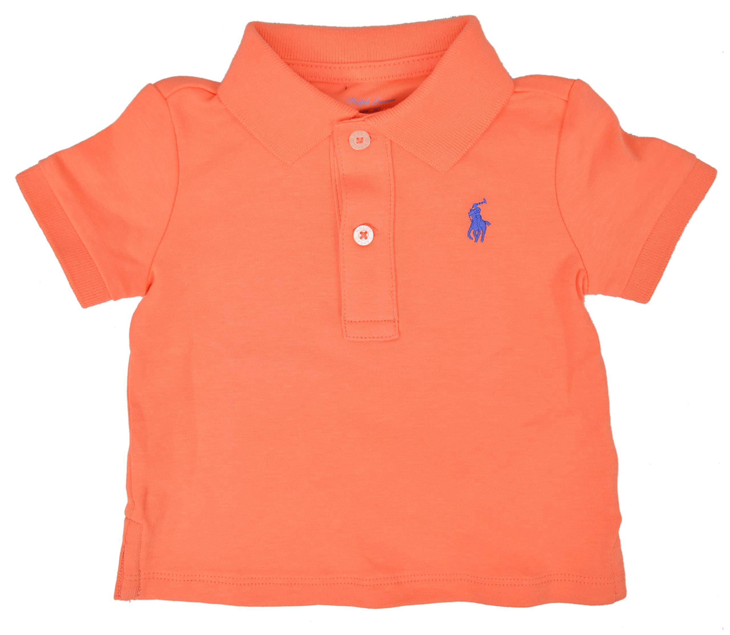 Polo Ralph Lauren Baby Boys 100% Cotton Polo Top, Orange (18M) by Polo Ralph Lauren