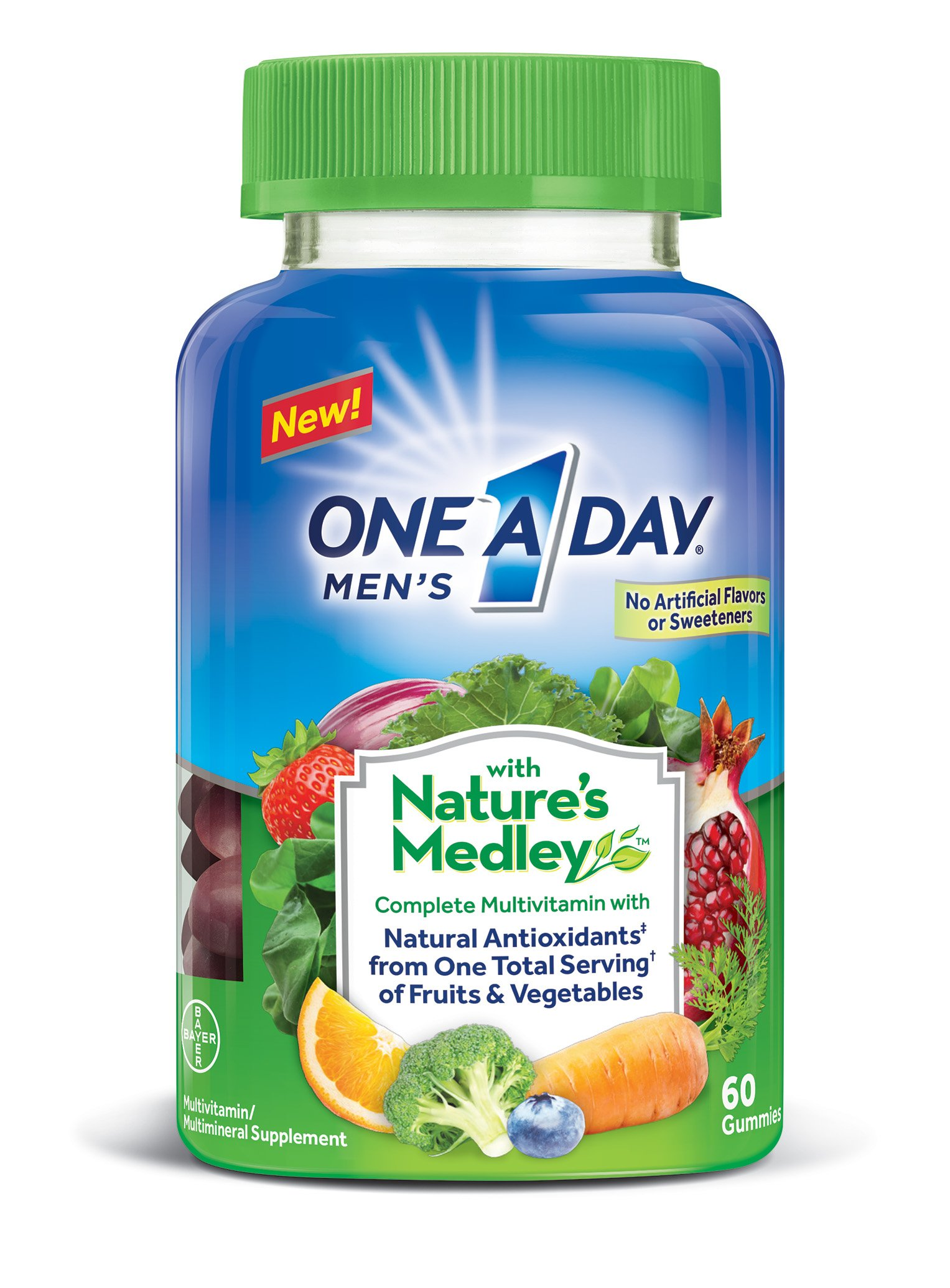One A Day Mens with Natures Medley Complete Multivitamin Supplement Gummies, ...