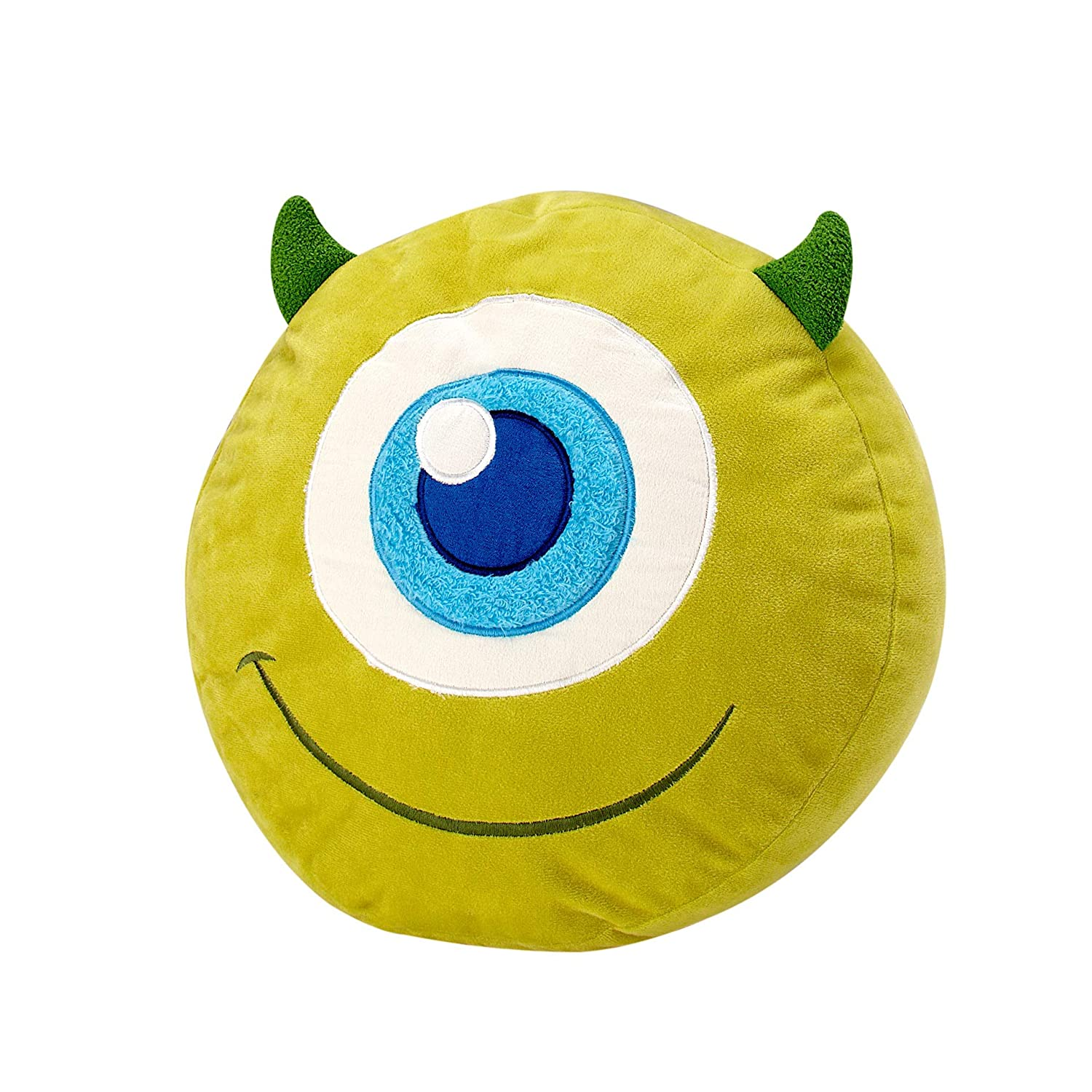 Disney Monster's Inc. Mike Wazowski Round Decorative Pillow, Green/Green/Blue/White