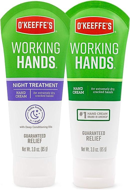 O'Keeffe's Working Hands Hand Cream and Night Treatment Hand Cream