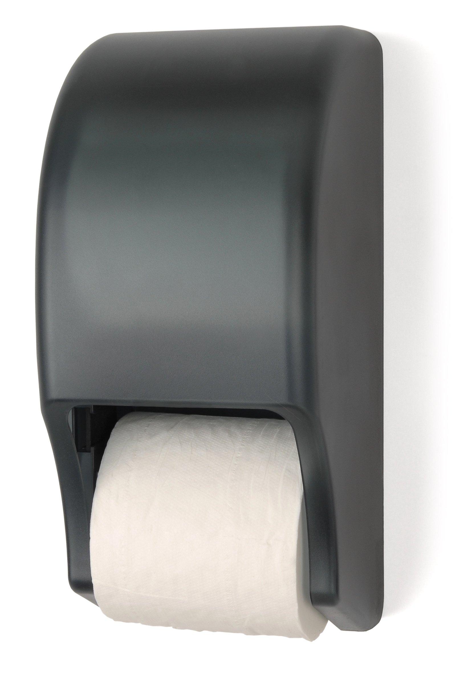 Palmer Fixture RD0028-01 Two-Roll Standard Tissue Dispenser, Dark Translucent by Palmer Fixture