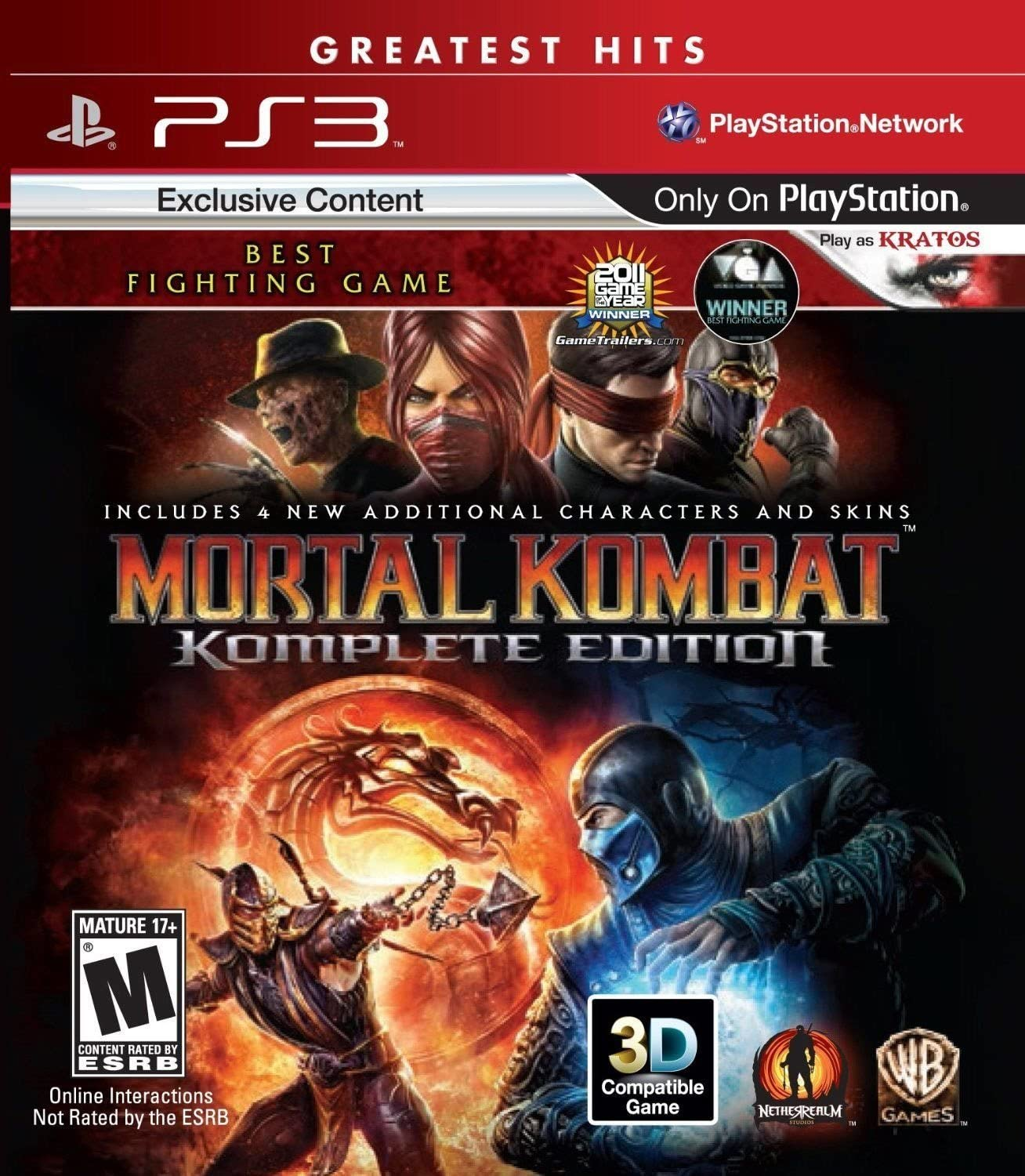 Amazon Com Mortal Kombat Komplete Edition Playstation 3 Whv Games Video Games