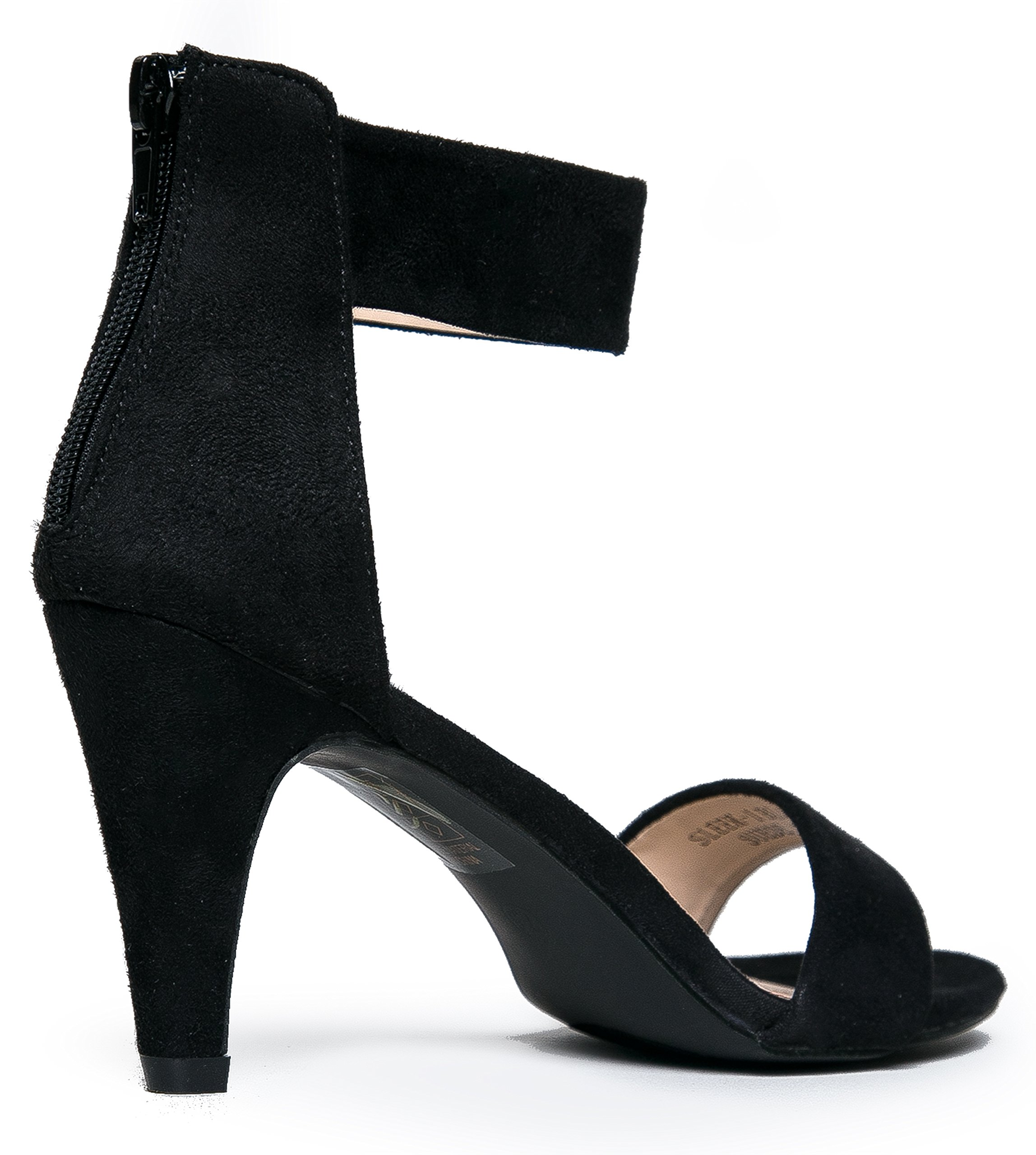 Women's Ankle Strap Open Peep Toe High Heels | Dress, Wedding, Party Heeled Sandals | Elegant, Comfortable & Strappy by J. Adams (Image #3)
