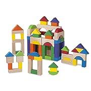 Wonderworld 100 Piece Block Set - Basic Building, Includes All Shapes, Colors Toy Set