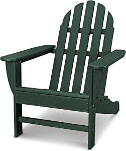 POLYWOOD AD4030GR Classic Outdoor Adirondack Chair, Green