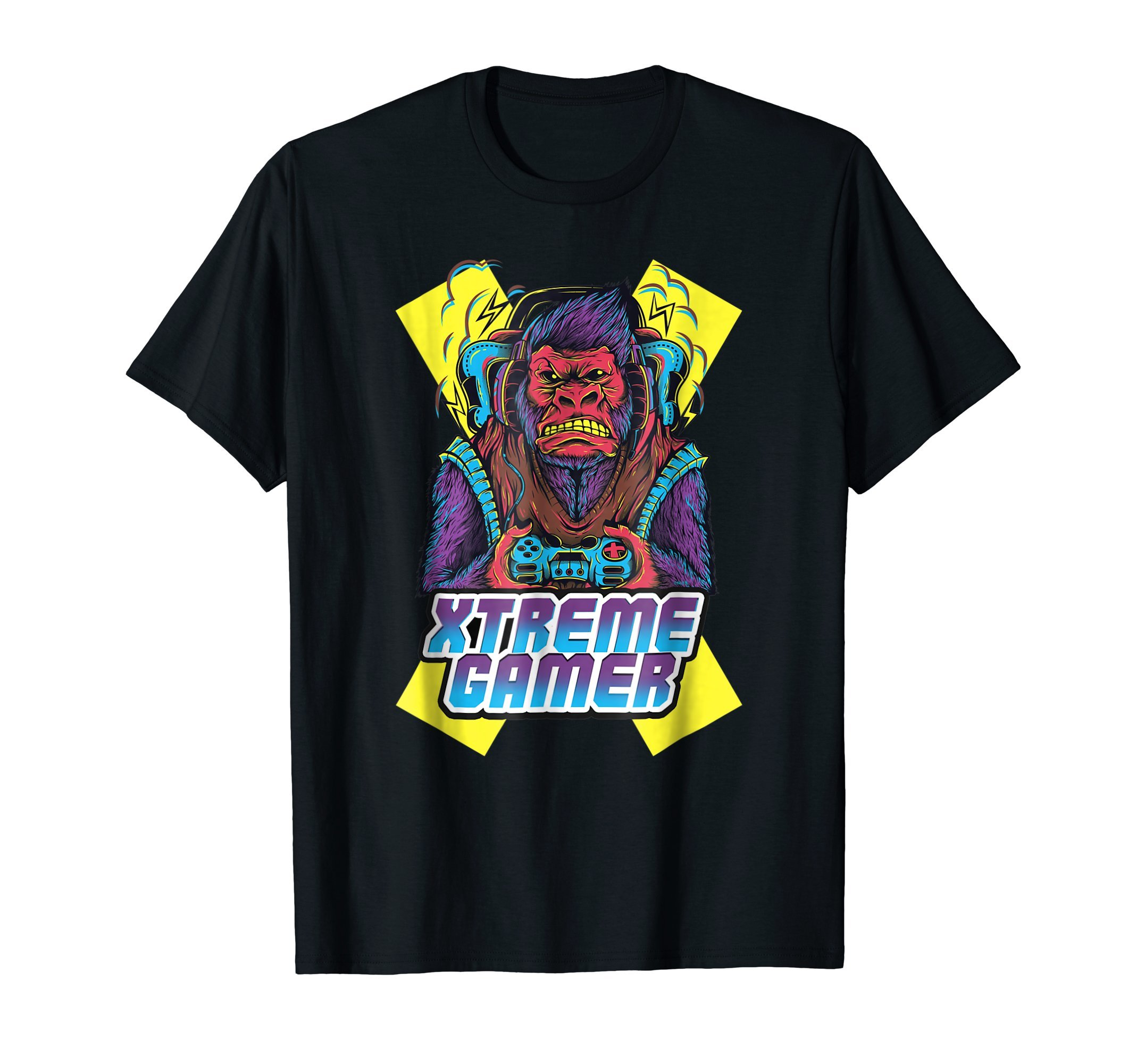 Extreme-Gorilla-Gamer-Funny-Humor-T-Shirt-Tee-Shirt-Gift