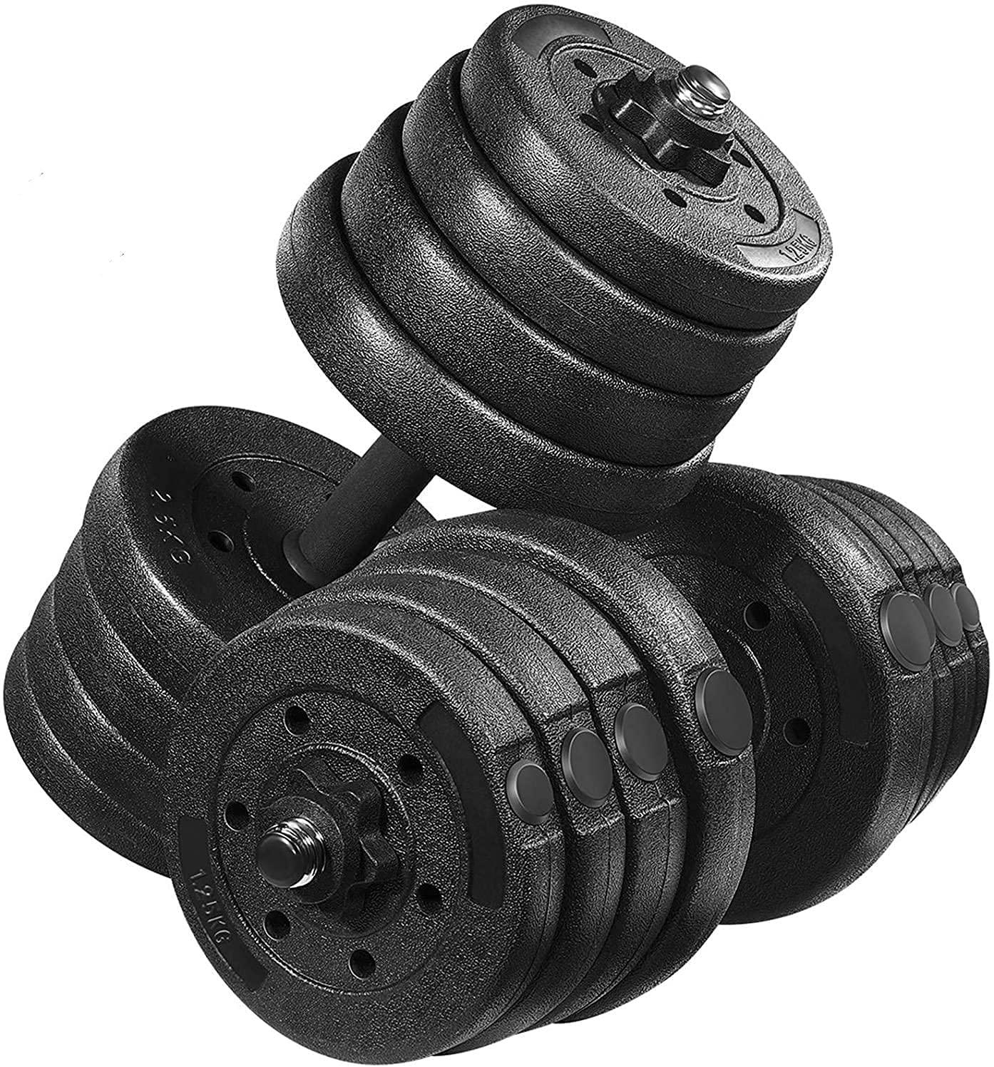 Dumbbells Adjustable 20 30 Kg Weights Barbell Set Dumbells Pair for Home Gym UK