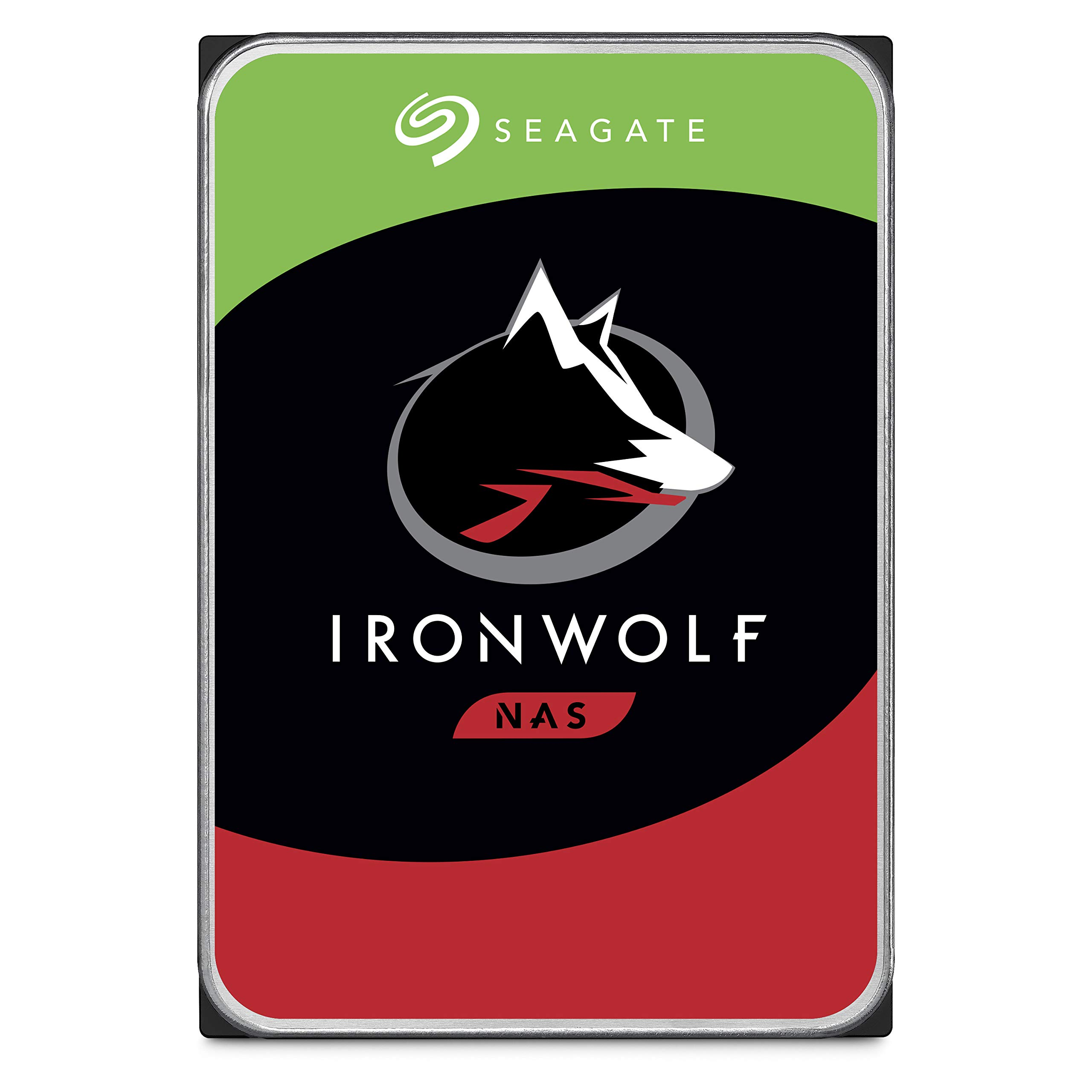 Seagate IronWolf 4TB NAS Internal Hard Drive HDD - 3.5 Inch SATA 6Gb/s 7200 RPM 64MB Cache for RAID Network Attached Storage - Frustration Free Packaging (ST4000VN008)