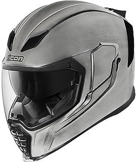 Casco de motocicleta Airflite Quicksilver de Icon, color plateado