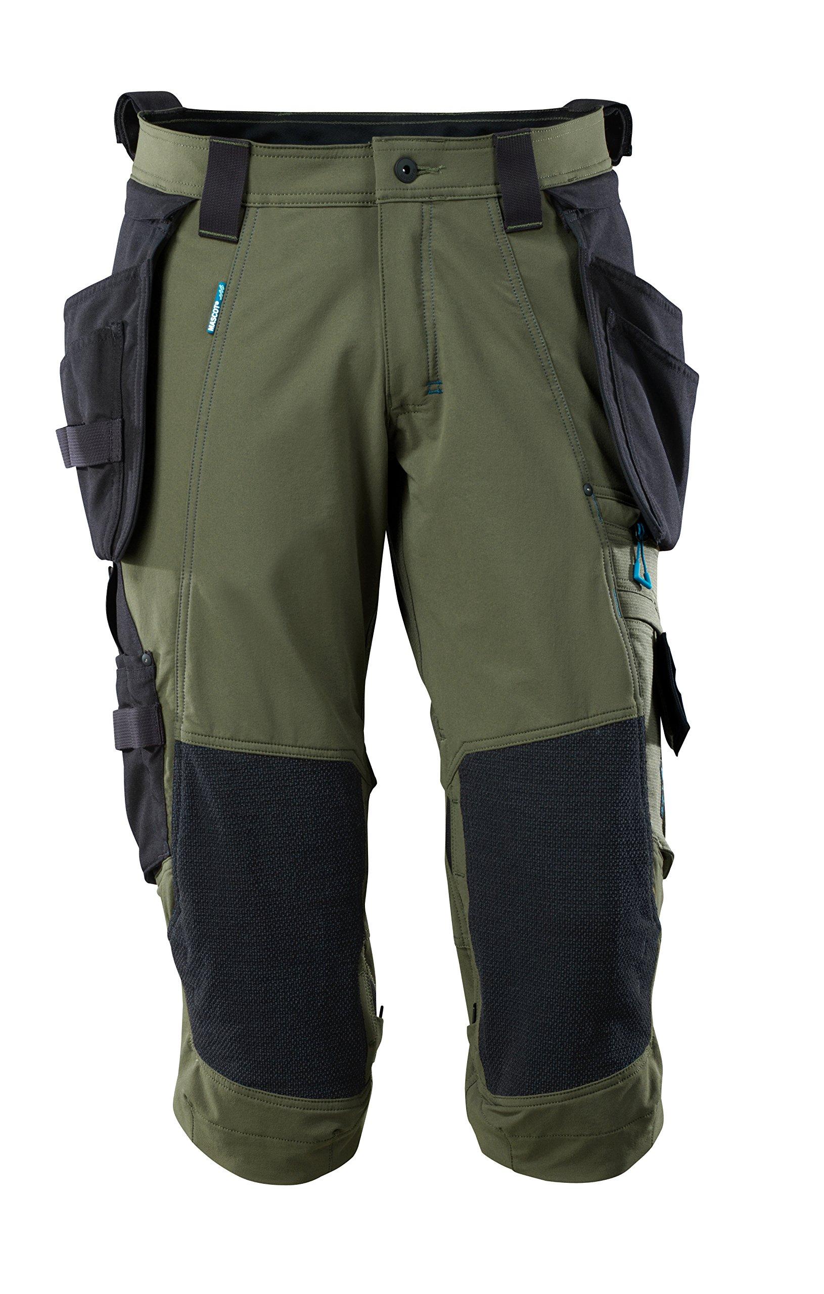 Mascot 17049-311-33-C48 Stretch Shorts Size C48, Moss Green