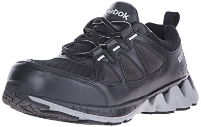 Reebok Work Mens Zigkick RB3010 Work Shoe BlackGrey