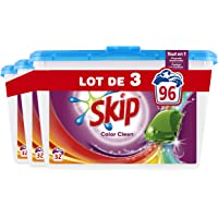 Skip Lessive Capsules Couleurs 96 Lavages (Lot de 3x32 Lavages)