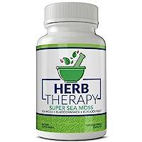 Herb Therapy Sea Moss Capsules (100 Capsules) 1500 milligrams of Organic Raw Irish...